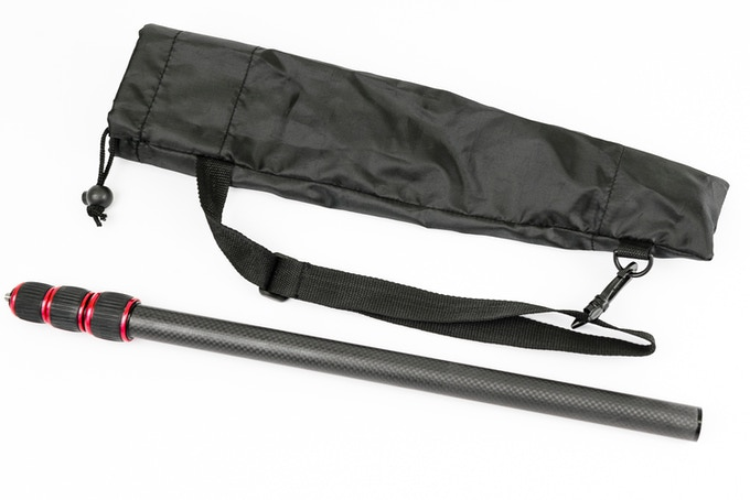Just don't call it a selfie stick ;) This awesome carbon fiber monopod extends to 1.5 meters and is light as a feather.