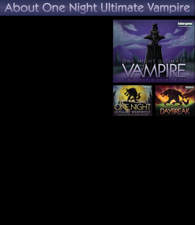 One Night Ultimate Vampire by Bezier Games — Kickstarter