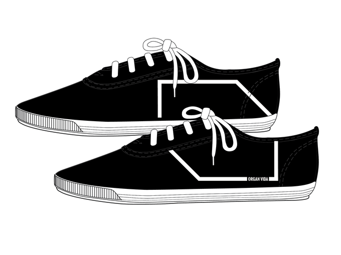 Design of the shoes is chosen from 3 options via poll on our FB page and @organvida Instagram account