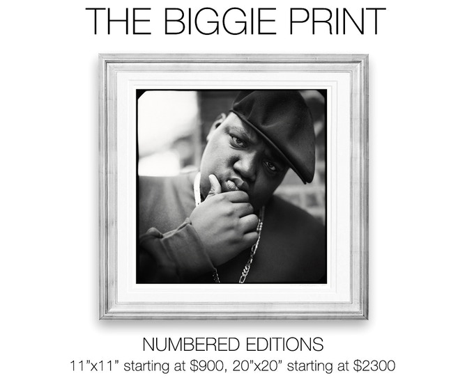 Christopher Wallace, a.k.a The Notorious BIG, a.k.a. Biggie Smalls photographic prints