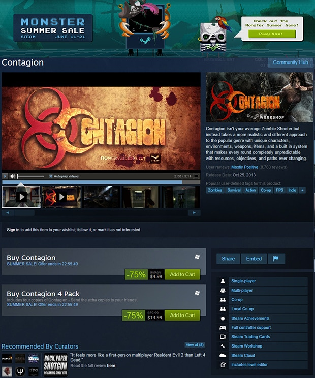 Contagion - Co-op Zombie Survival Game by MonochromeLLC