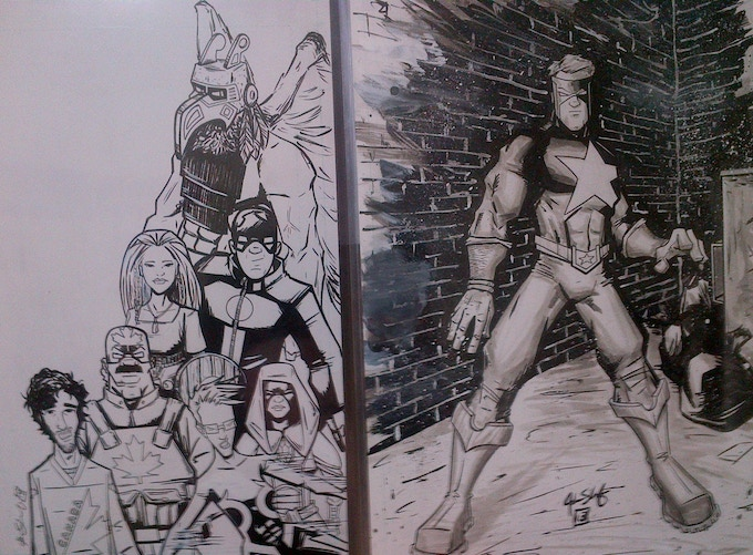 C.Corps cover and Paragon (LEGACY) 11x17 Commission by Justin