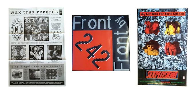 "REWARDS: Vintage WAX TRAX! Promotional Poster (24""x36""),   FRONT 242 Promotional Poster/ Front by Front (24""x24""),   TKK Promotional Poster/ Sexplosion (24""x36"")"