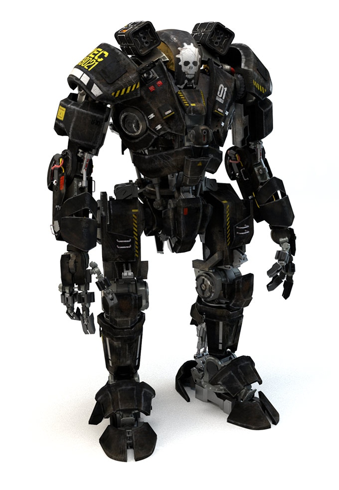 Mech i modeled using Maya. The model is made up of thousands of pieces and took me about 1 month to complete.