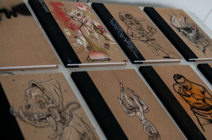 Original customised sketchbooks
