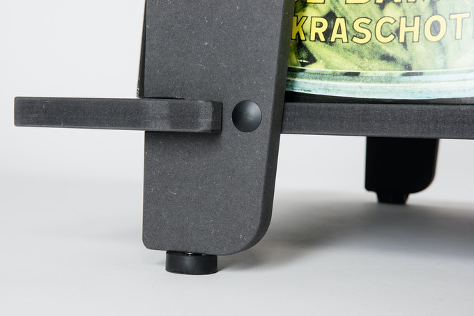 CLEARANCE: Ample clearance to keep your records away from the floor. Individually adjustable feet keep the Station level and stable.