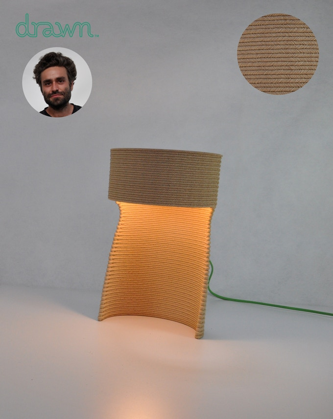 Charged plastic lamp L by Samuel Javelle