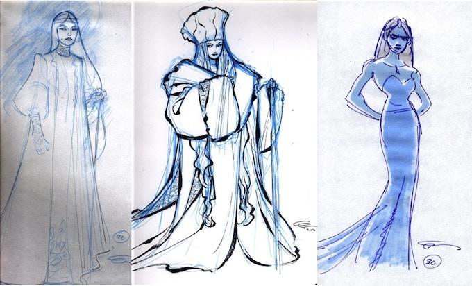 An original Disney Snow Queen concept design