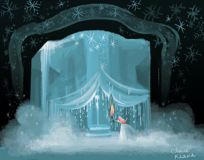 Early Anna and Ice Palace concept art