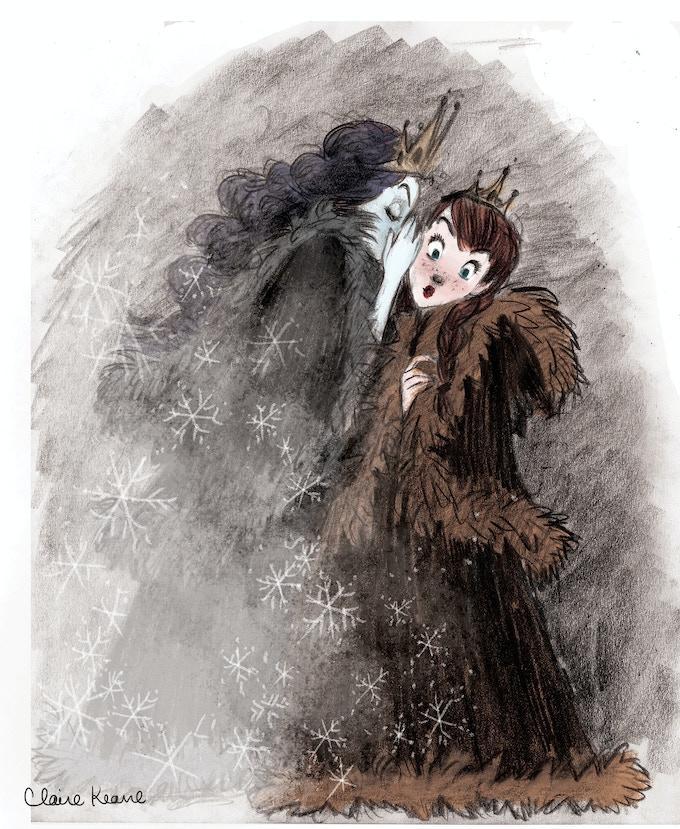 Elsa scaring Anna