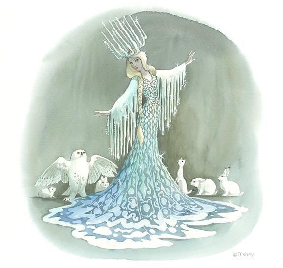 Marc Davis - Snow Queen concept art