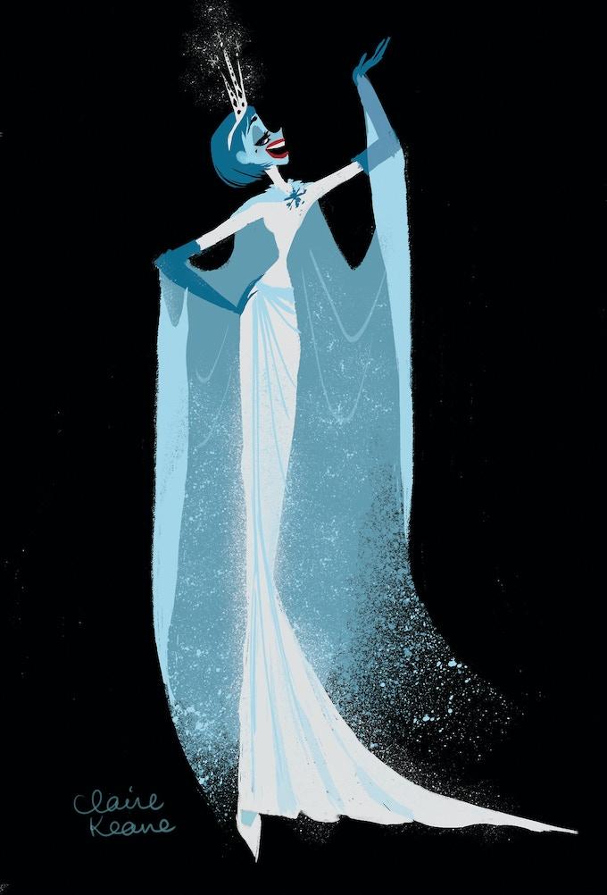 "Another Claire Keane concept design of ""Evil Elsa"""