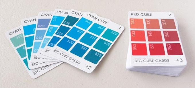 DIY Colour Cube Cards