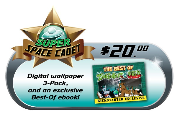 """3-Pack of awesome Z&F and Super Sox Shop wallpapers, and an EXCLUSIVE Best-Of Z&F ebook for that piece of archaic technology you humans call a """"Tablet""""."""