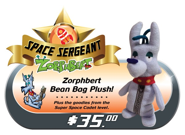 "The Bean-Bag Plush version of cynical grump Zorphbert. 8"" tall & filled with 200% more disgruntled sarcasm, but somehow we still adore him. One of the great Earthly mysteries!"