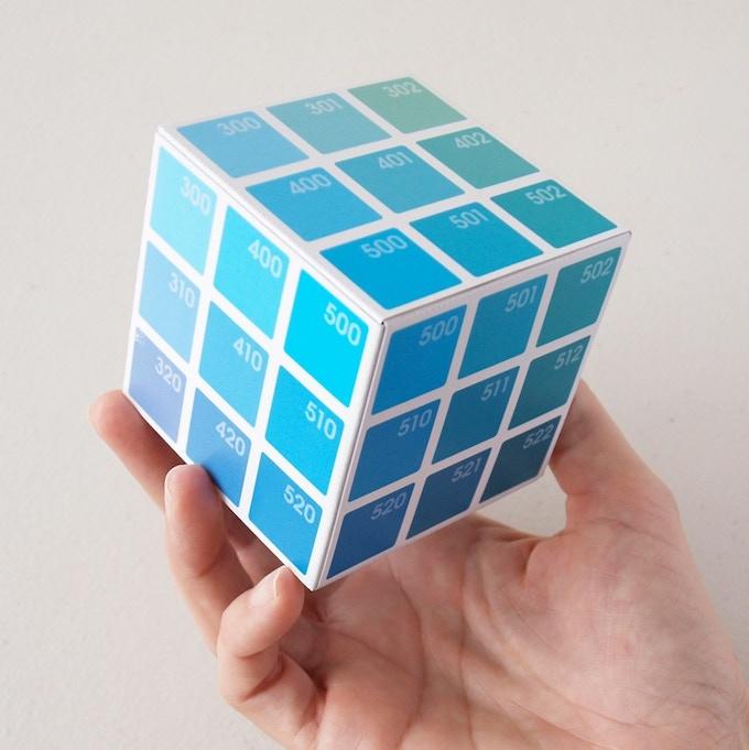 Cyan Cube in 3D