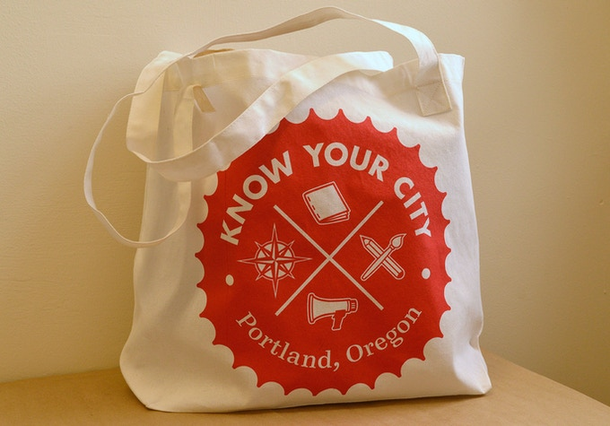 Know Your City tote bag $25