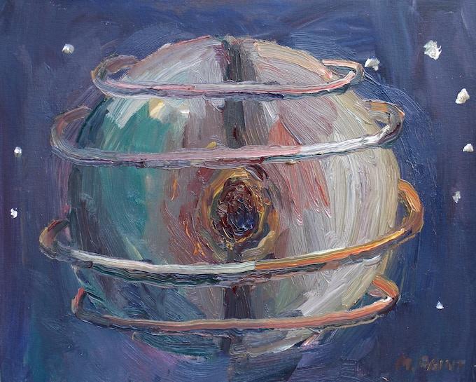 "$300 ""Rings around Uranus"" oil painting"