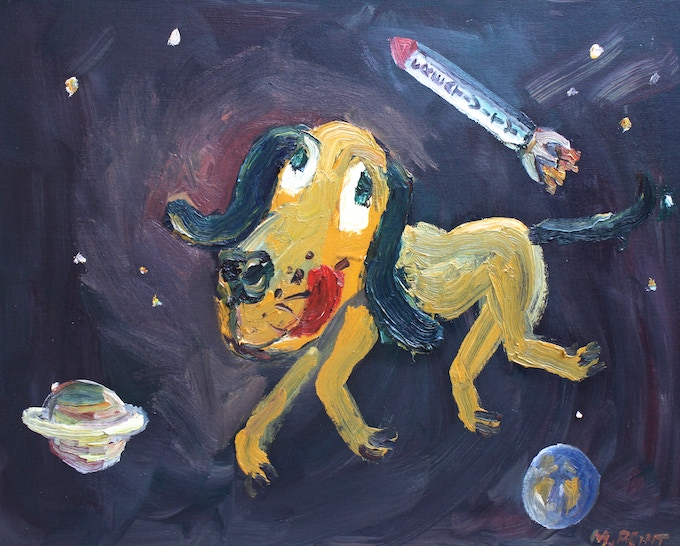"""$300 """"Pluto"""" oil painting"""