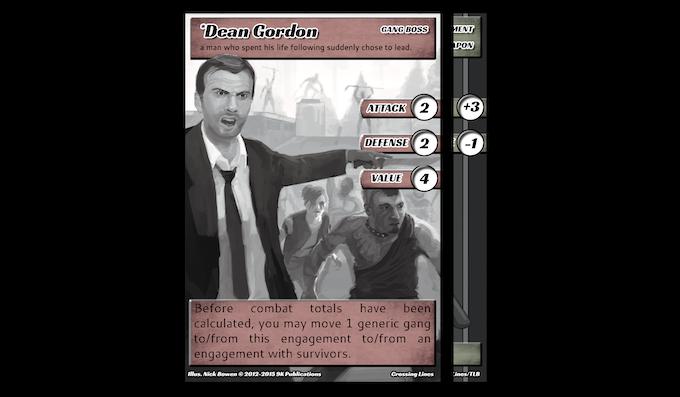 Dean Gordon armed with a Fire Axe