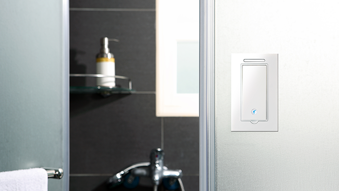 Gecko switch in your bathroom.