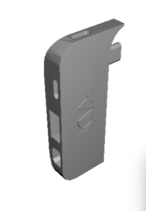 Finalised CAD Design, With Port At Rear To Hide The Power Cable