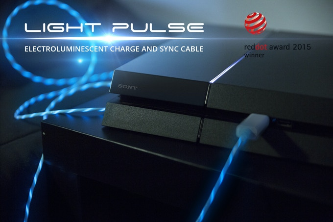 Light Pulse Electroluminescent Charge Amp Sync Cables By
