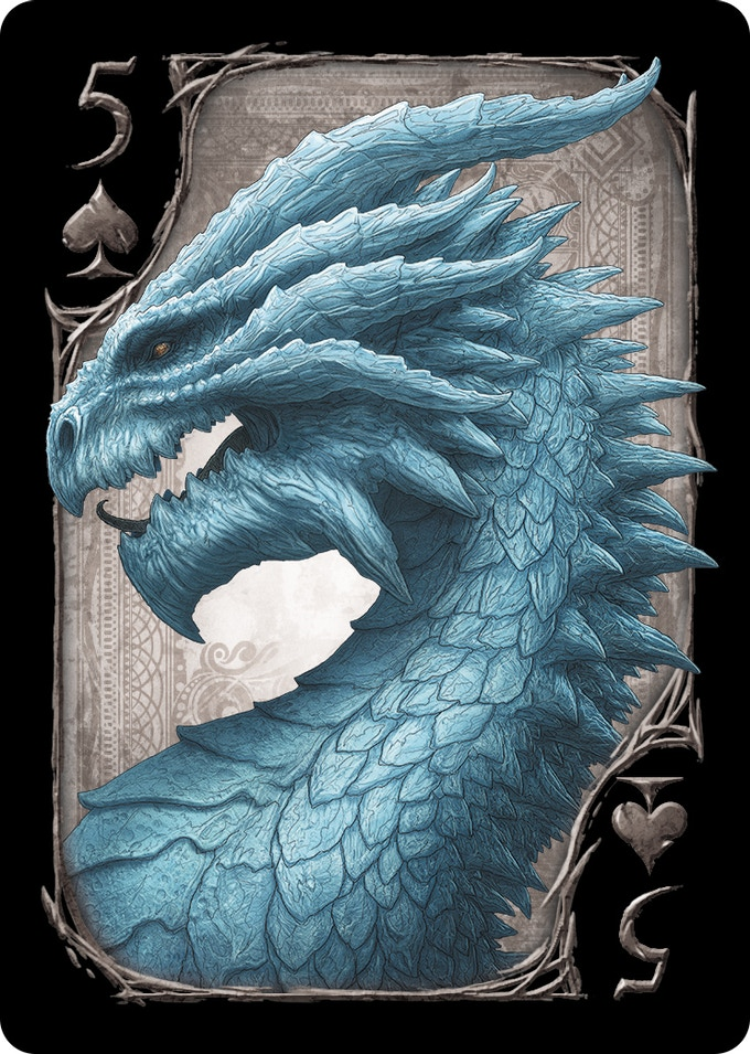 5 of Spades (Ice Dragon)