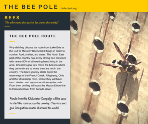 The Bee Pole migratory route starting on Lake Erie