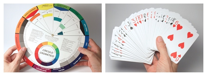 colour wheel + playing cards