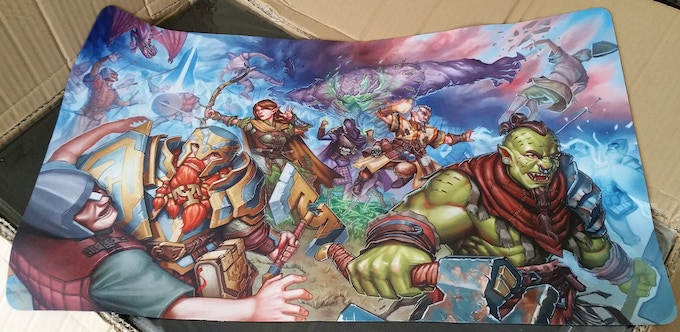 Actual production copy of the playmat