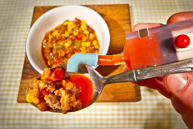 Using Utensilmate, will alter how you eat chili forever.  This practice is highly recommended!