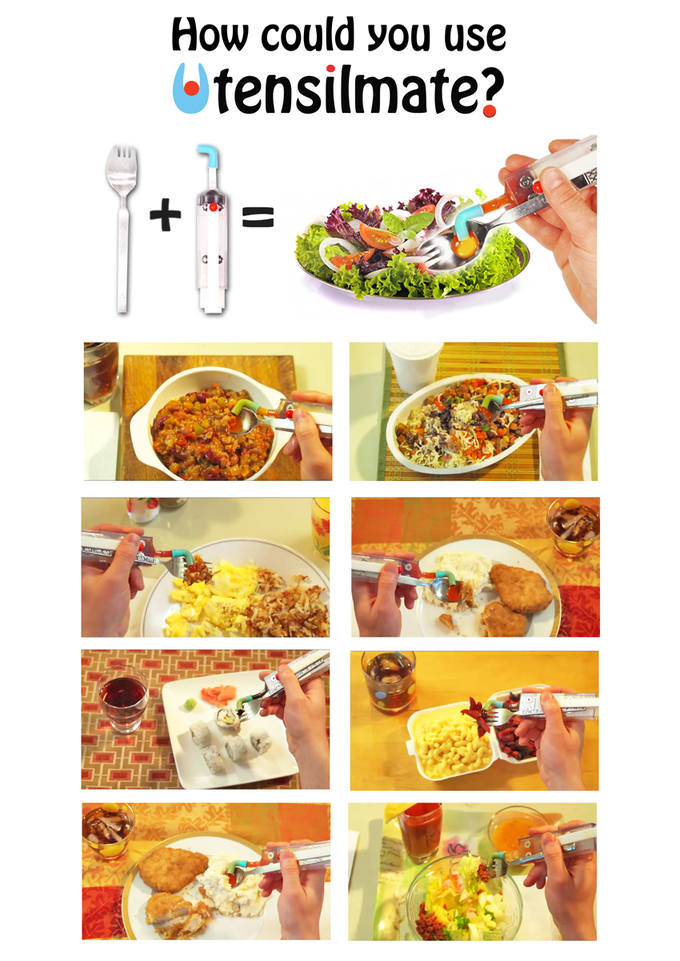 Hot sauce, derssing, ketchup, BBQ sauce, soy sauce.. Chili, eggs, mac n' cheese, salad, sushi.. How could you use Utensilmate?