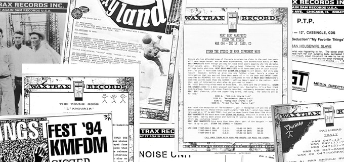 WAX TRAX! RECORDS Vintage Press Releases