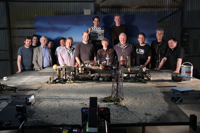 The 'Filmed in Supermarionation' team prepare to blow up an oil refinery.