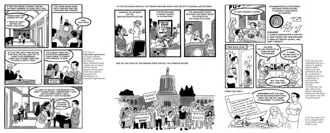 Original art sale! Receive a piece of original artwork from one of Know Your City's comics by Becky Hawkins about renter's rights and evictions $100