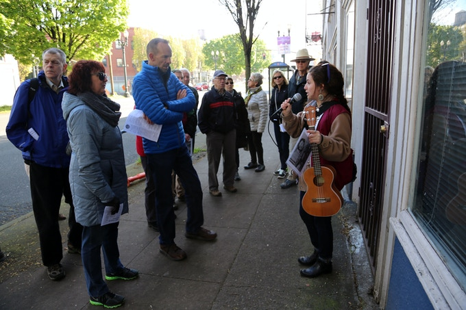 Receive a private tour of Know Your City's A People's History of Portland tour or Sing A Song of Portland tour, with an inside look at one of the tour stops $300