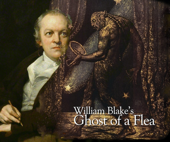 Portrait of William Blake contemplating the Ghost of a Flea