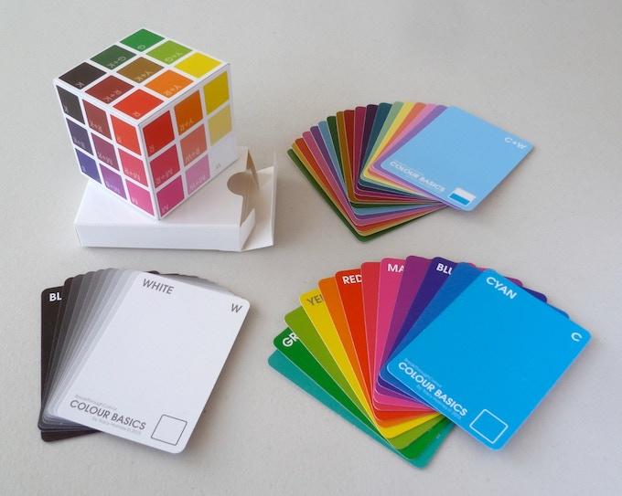 'Colour Basics' Deck  |  41 Colour Cards + 6 Cube Cards
