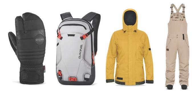 Men's Dakine: Fillmore Trigger Mitt, Heli Pack, Incline Jacket & Troutdale Bib Pants