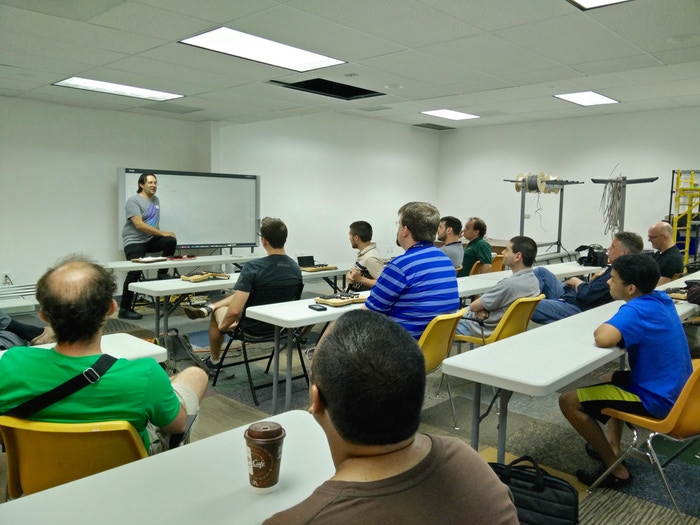 Jesse talking about Arduino's HID implementation at Nova Labs