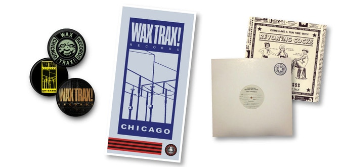 REWARDS: Button Pack, WAX TRAX Wire Logo Poster, FRONT LINE ASSEMBLY/ Toxic Test Pressing, Signed REVOLTING COCKS Physical 12""
