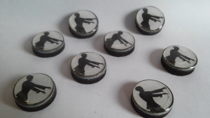 It can be frustrating to run a combat without visual aids. With the cost of miniatures so high, I created these tokens as alternatives.