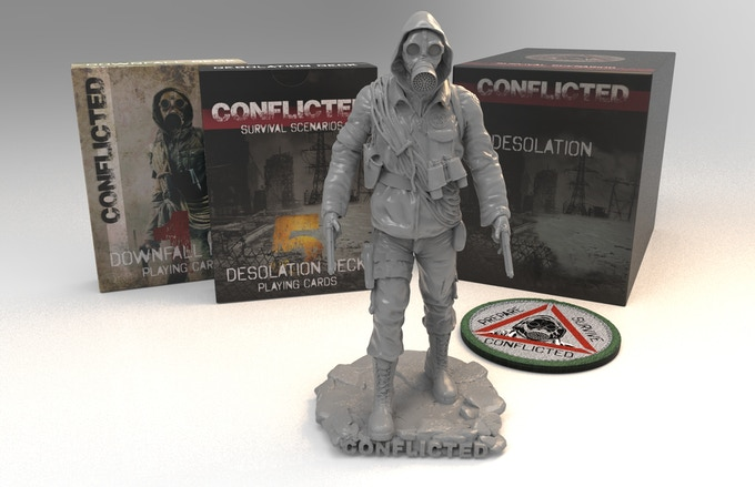 Decks 5 & 1, prepper figurine, box and morale patch