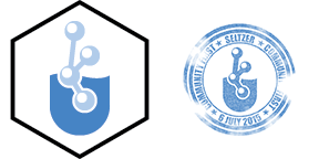 "Designs of the 2"" laptop sticker and 1.5"" ""visa stamp"" sticker"