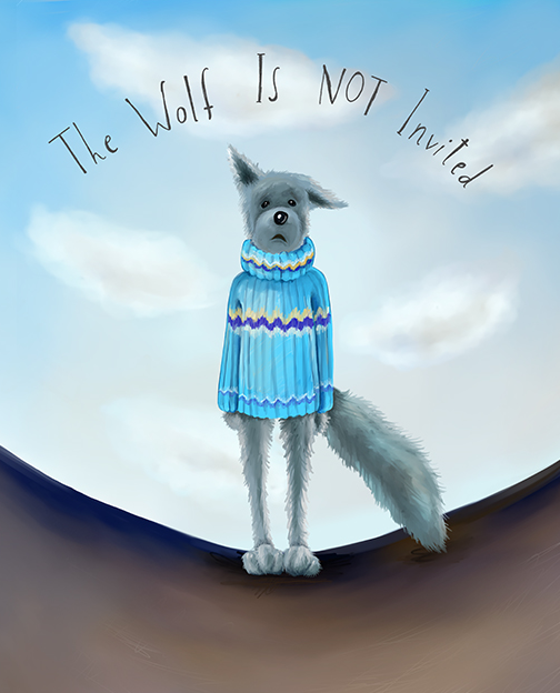 The first book in the Feel Brave series called 'The Wolf is NOT Invited!' which deals with separation anxiety and how to 'make your own fun'