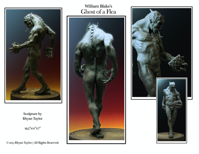 Rhyan Taylor's sculpture of William Blake's Ghost of a Flea