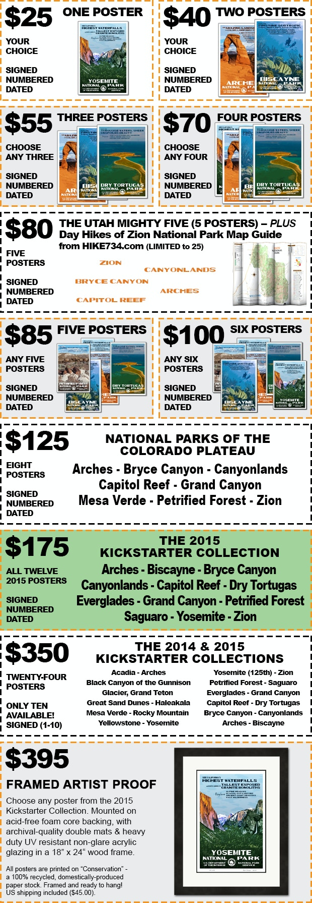 The National Park Poster Project 2015 by Robert Decker