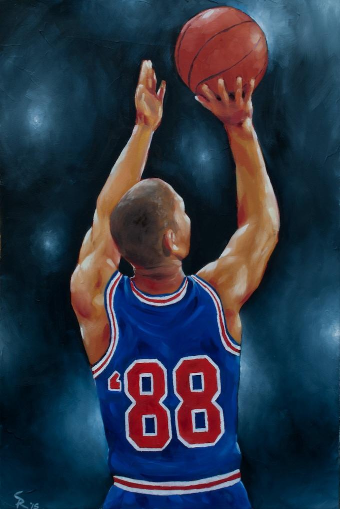 Original '88 poster art painted by Tucson native artist, Sean Rangel.