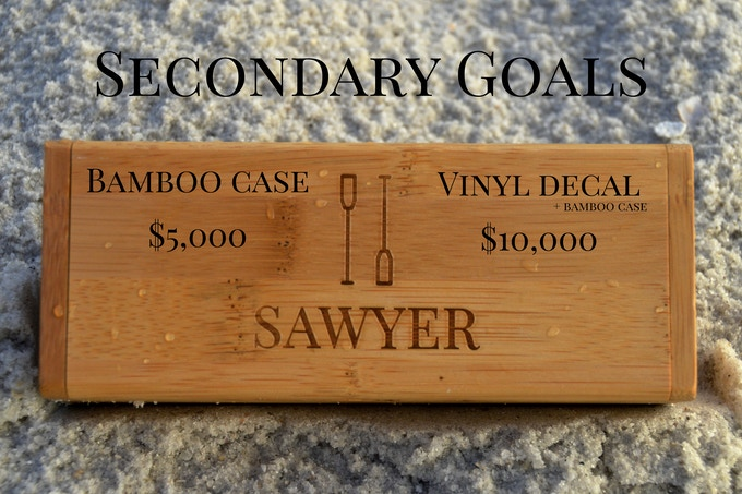Receive a carrying case ($20 value) if our campaign reaches $5,000 and a Sawyer decal (as well as a case) if we reach $10,000.